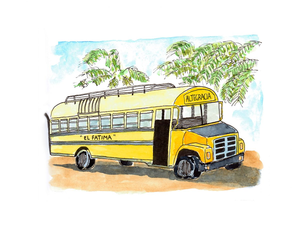 Chicken bus, Ometepe