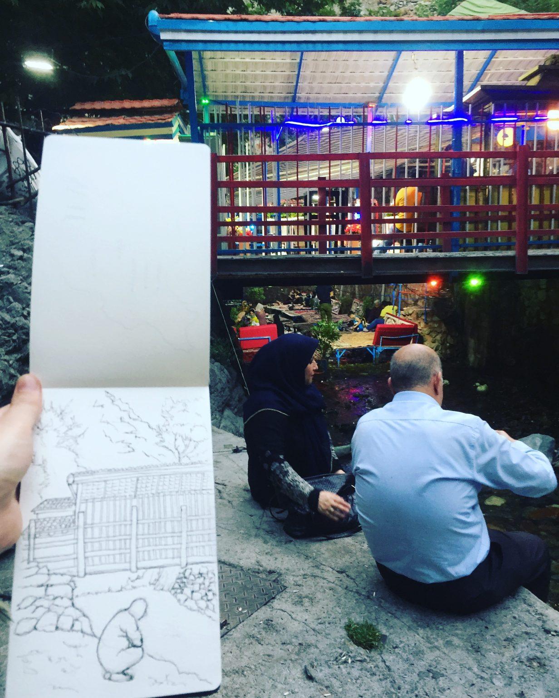 Drawing in Tehran
