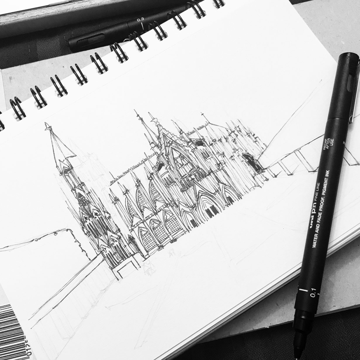 Sketching Cologne Cathedral