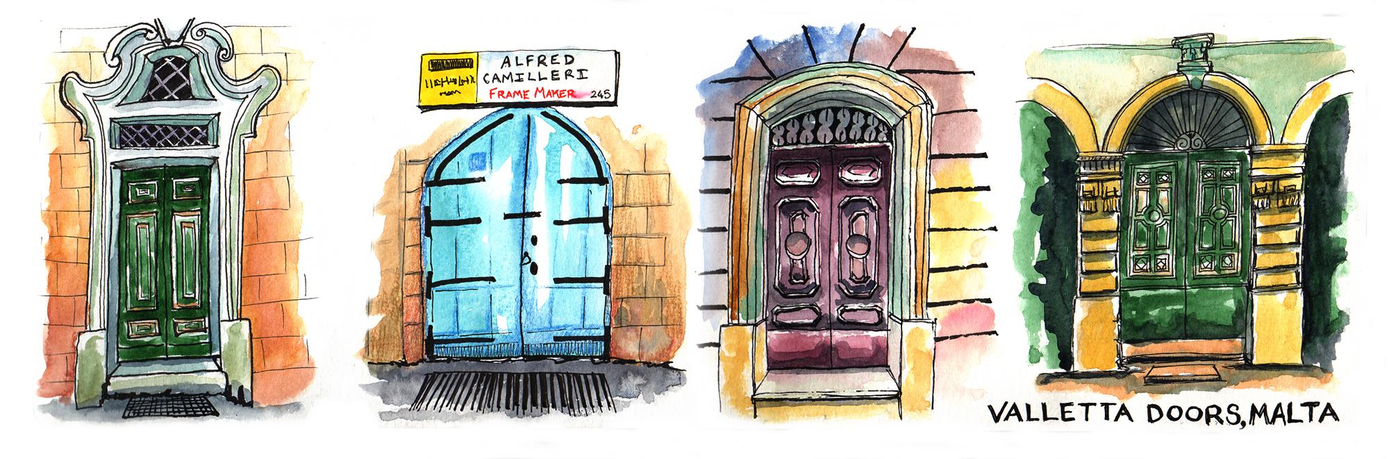 Valletta doors, Malta