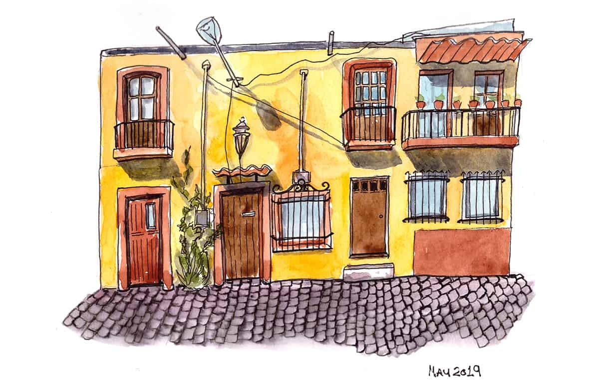 Yellow house San Miguel