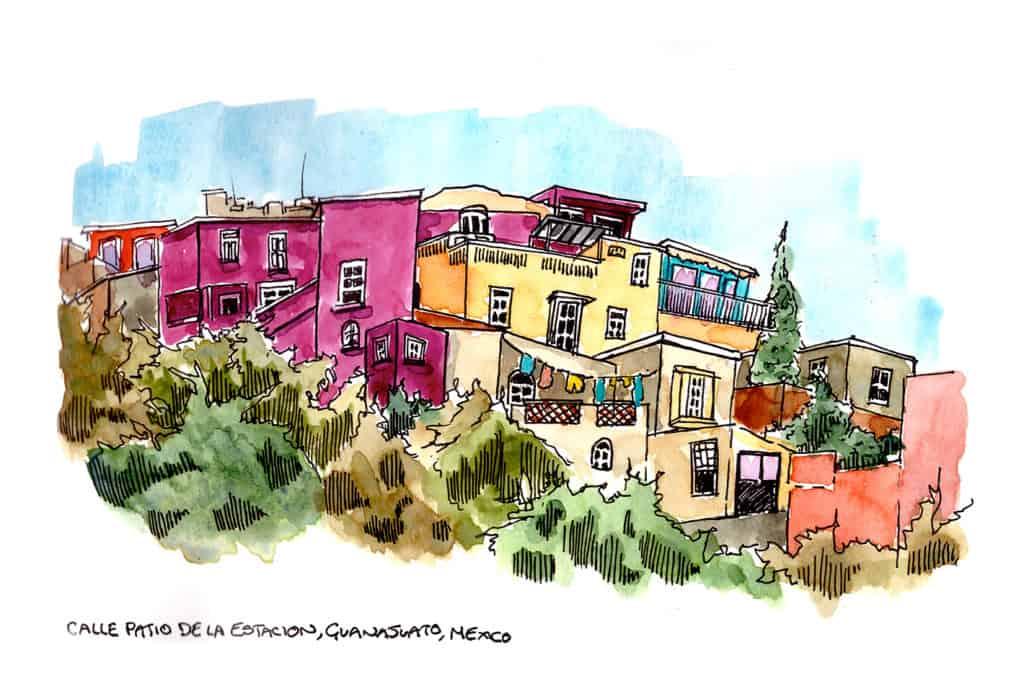 Colourful houses Guanajuato