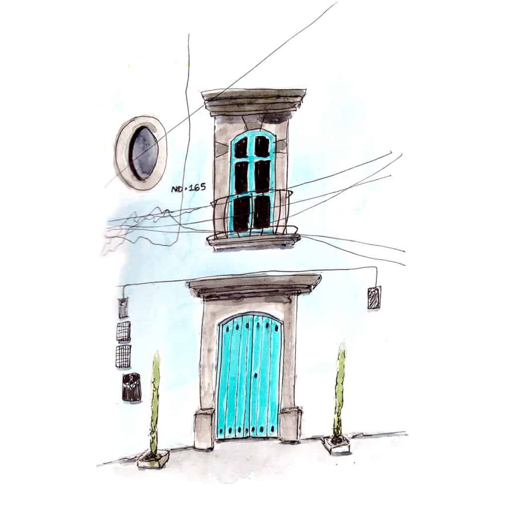 House front San Miguel de Allende
