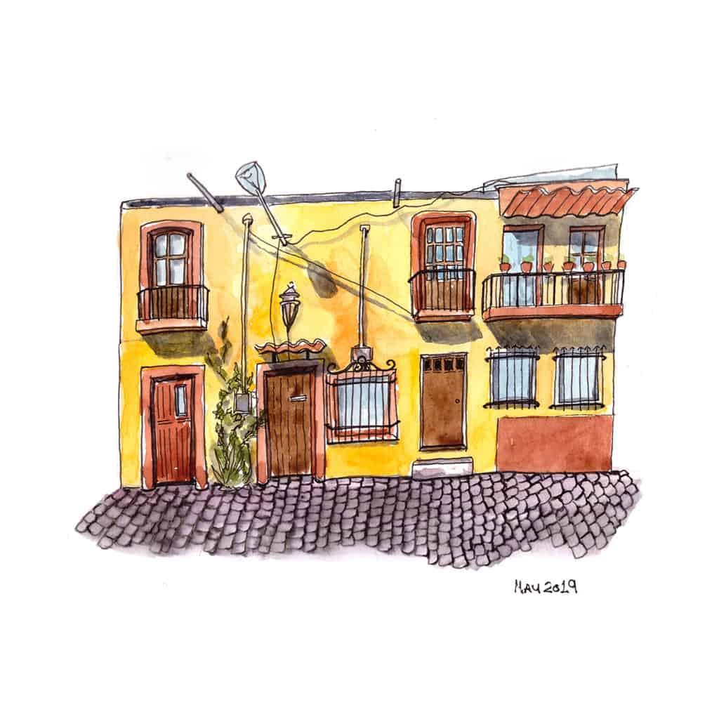 Yellow house front San Miguel de Allende